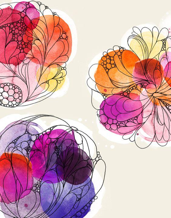flowers circle